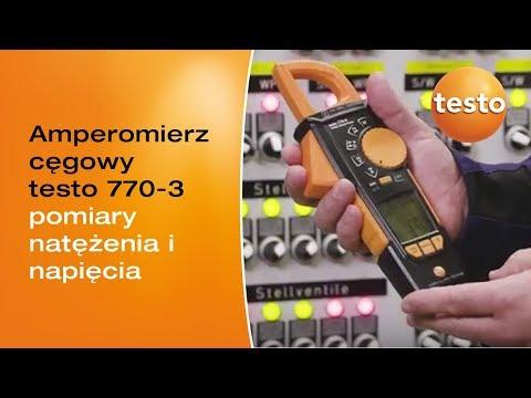 Pomiary amperomierzem cęgowym testo 770-3