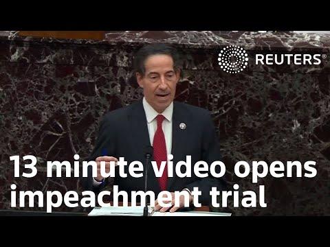 Graphic video kicks-off historic impeachment trial