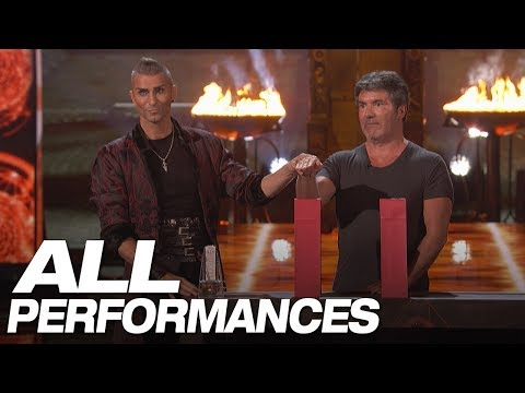 Whoa! Dangerous Magic From Aaron Crow! (All Performances) - America's Got Talent 2018 (видео)