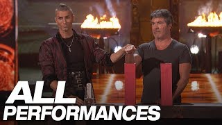 Whoa! Dangerous Magic From Aaron Crow! (All Performances) - America's Got Talent 2018 thumbnail