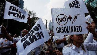 GASOL - Мексиканцы протестуют против повышения цен на бензин