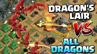 DRAGON'S LAIR vs ALL DRAGONS! Clash of Clans Update Gameplay - GIANT DRAGON Boss Troop in CoC!