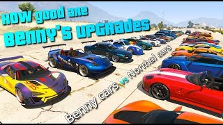GTA V Online  How Fast Are Benny's Cars | All Benny Cars Vs Normal Cars