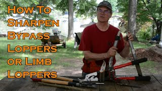 How To Sharpen Bypass Loppers