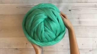 Как вязать плед из толстой пряжи