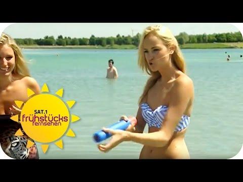 HANDBAGGER UND POWER SHOT: Ausgefallene Urlaubs-Spielzeuge! | SAT.1 Frühstücksfernsehen | TV