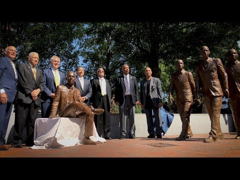 Georgia Tech statues of first African American students and graduate