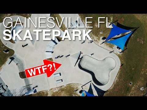 GAINESVILLE FL SKATEPARK! // 🍆 SHAPED BOWL?!