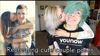 Recreating cute couple poses