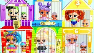 LOL Surprise Dolls Prank Gone Wrong with #Hairgoals Series 5 Wrong Heads in Jail House