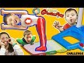 FANTASTIC GYMNASTICS CHALLENGE! Losers Eat Melted Surprise!  FUNnel Vision Flips & Fails Fun