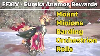 FFXIV Eureka Anemos Rewards (Mount, Minions, Barding, Songs) - Stormblood