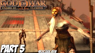 GOD OF WAR CHAINS OF OLYMPUS GAMEPLAY WALKTHROUGH PART 5 CHARON BOSS FIGHT - PS3 LETS PLAY