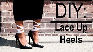 DIY: Lace Up Ballerina Heels