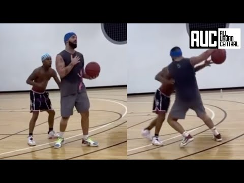 Drake Plays Basketball Against Tory Lanez Shoots The Nastiest Airball Ever
