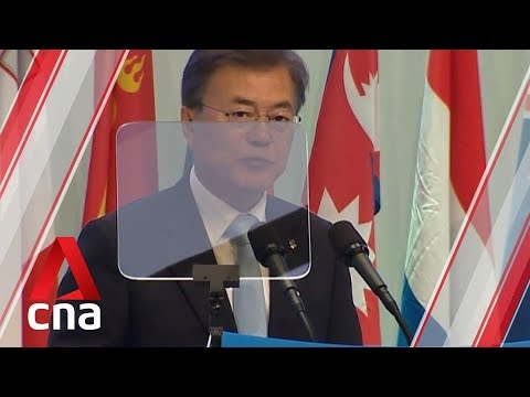 South Korea's President Moon Jae In marks two years in office