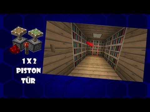 Wie Baut Man Eine Piston Tur Mit Wasser In Minecraft Minecraft