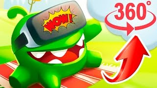 Om nom 360 - Virtual reality 4K Video cartoons cut the rope 2017 KEDOO animation for kids