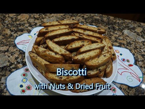 Italian Grandma Makes Biscotti with Nuts & Dried Fruit