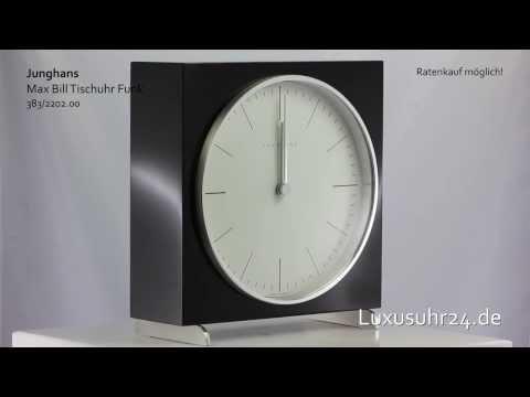 Junghans Max Bill Tischuhr Funk 383/2202.00 Luxusuhr24 Ratenkauf ab 20 Euro/Monat