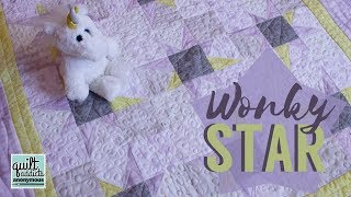 Wonky Star Baby Quilt - NO Templates Or Paper Piecing