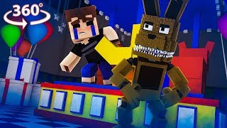 360° Five Nights At Freddy's - PLUSHTRAP VISION - Minecraft 360° VR Video