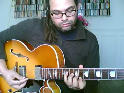 jazz guitar chord melody - In a sentimental mood