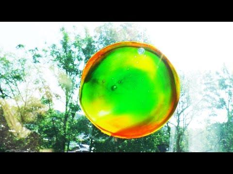 Sonnenfänger aus Klebstoff basteln | tolles Farbenspiel als Fensterbild | Basteln für den Sommer