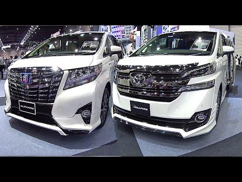 2016, 2017 Toyota Alphard VS Toyota Vellfire - luxury MPV (minivan)