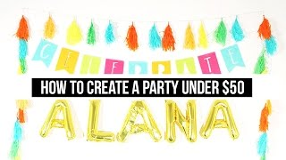 Party Under $50: Candy Land Theme