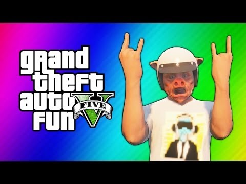 GTA 5 Online Funny Moments - Bumper Cars, Slide Glitch, Fitness Class, Titan Flying V, Quack!