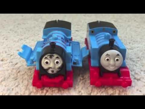 Ryan plays with Crash & Repair Thomas the train  motorized Trackmaster train