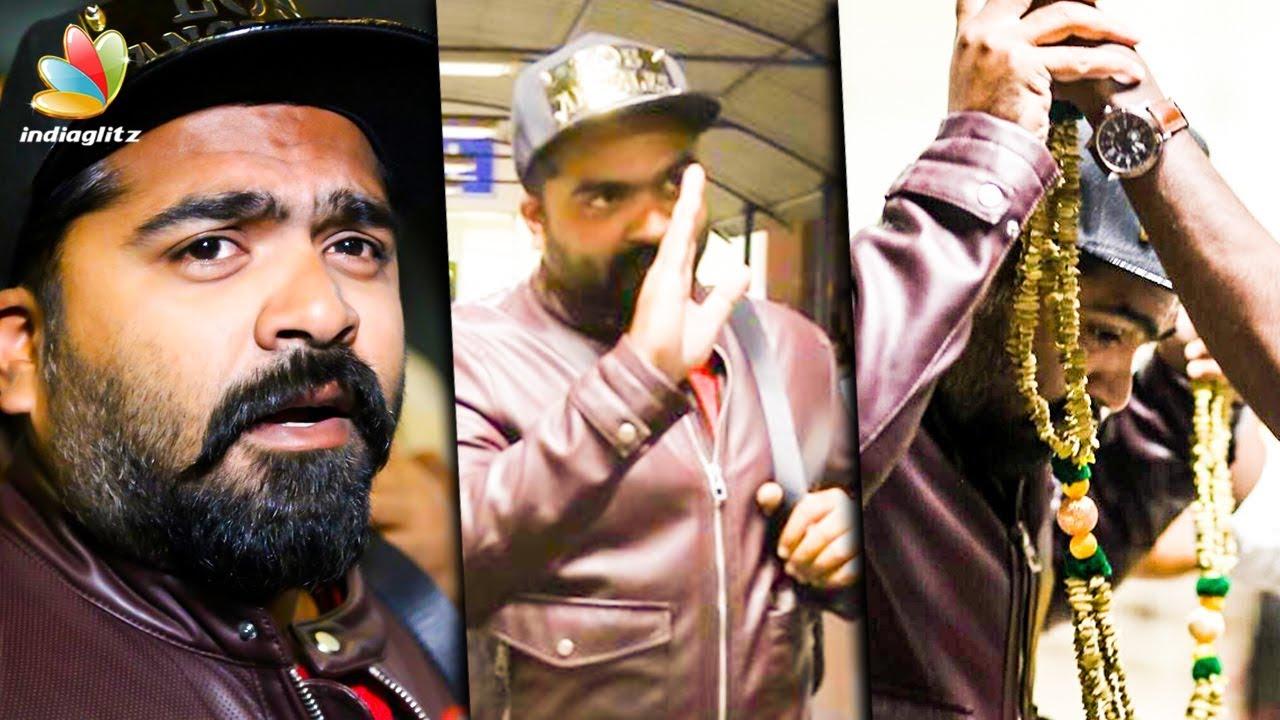 SIMBU Army Grand Welcome at Airport | STR, Mani Ratnam | Chekka Chivantha Vaanam