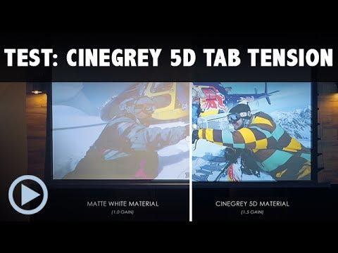 CineGrey 5D Saker Tab Tension Kontrastleinwand Motorleinwand von Elitescreens Test