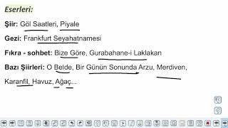 Eğitim Vadisi AYT Edebiyat 12.Föy Milli Edebiyat Dönemi Saf Şiir 2 Konu Anlatım Videoları