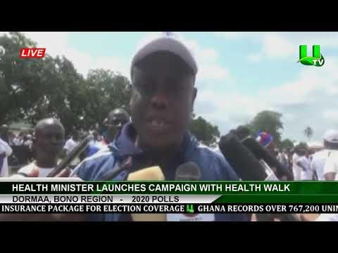 2020 POLLS: Health Minister Launches Campaign With Health Walk  Dormaa, Bono Region