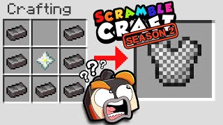 Minecraft But CRAFTING IS RANDOMIZED! (Scramble Craft #1)