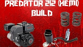 360 view of HFT Predator 212cc racing engine on bench - hmong video