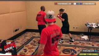 Zachary Ochoa Warming up Minutes Before Fight with Yves Ulysse Jr