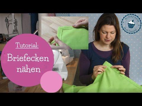 Briefecken nähen | Tischdecke umnähen | how to sew a mitered corner | | DIY Nähanleitung | mommymade