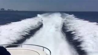 Blasting around outside Miami in a 58' Sunseeker Predator!