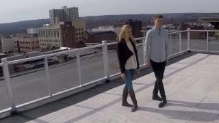 Riverdance lead dancers Maggie Darlington and Bobby Hodgens demonstrate Irish step dancing
