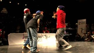 JUSTE DEBOUT 2012 【HIPHOP SIDE BEST8】RUSHBALL vs KENTO&CanDoo