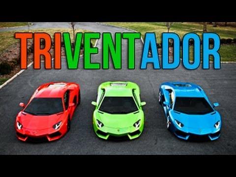 This Is Straight-Up Car Porn, Starring Three Lamborghini Aventadors