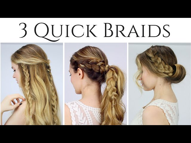 Astonishing Fast And Easy Braid Hairstyles Braids Hairstyle Inspiration Daily Dogsangcom