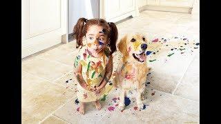 Не оставляйте собак с маленькими детьми!!! Вот что бывает...