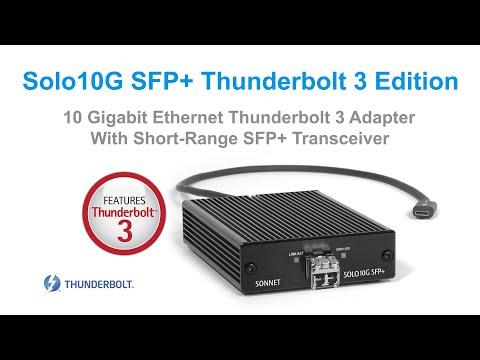 Solo10G SFP+ Thunderbolt 3 Edition
