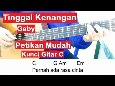 (Petikan) Gaby Tinggal Kenangan Kunci Gitar C Belajar Gitar Untuk Pemula