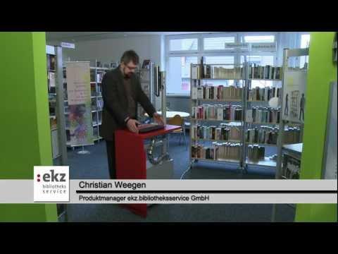 Höhenverstellbarer OPAC-Arbeitsplatz für Bibliotheken