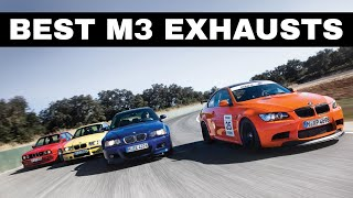 BEST Exhaust For Each M3 Generation - E30 vs E36 vs E46 vs E92 Vs F80